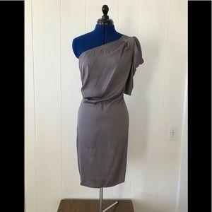BCBG slate grey silk dress